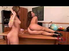 Hot teacher Lila has lesbian sex with her teen ...