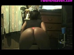 Thick Booty Black Girl Thong Twerk