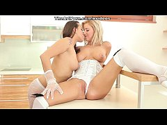 Mea-Melone and Nathaly erotic and tender lesbia...
