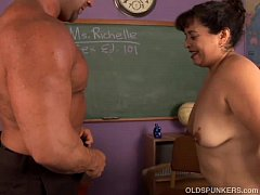 Cute chubby old spunker loves hardcore fucking ...