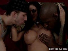 Angelina Valentine Hot Interracial Threesome