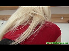 Amateur euro blonde picked up for anal