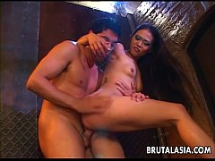 Alluring Japanese hottie takes a fat dick up he...