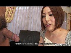 Asian slut Hiromi toy masturbating as the dude ...