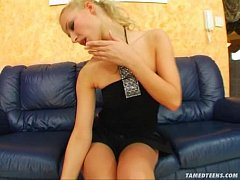 Tamed Teens First timer's pussy banged and crea...