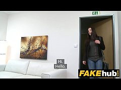 Fake Agent Innocent sexy brunette likes sucking...