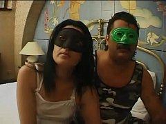 Italian amateur couple fucking in mask