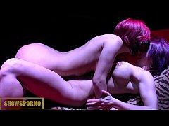 Hot lesbian porstars on stage