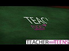 TeacherFucksTeens - My hot teacher is actually a horny slut