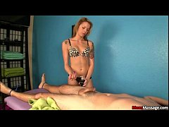Blonde Masseuse Ties A Man Up For A Dominating ...