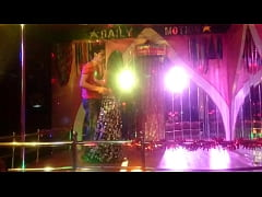 Nepal Desi Bar girl dance of the floor with a h...