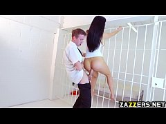 Danny D receives a blowjob behind bars from Ale...