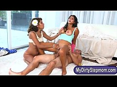 Bianka and Sarai amazing threesome sex with luc...