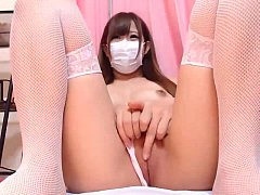 Japanese Cute Girl Shows Off on Webcam - AdultW...