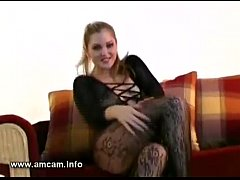 Blonde With Crotchless Panties Shows Killer Tits