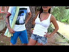 Myfirstpublic Busty brunette agree to have a se...