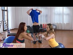 Fitness Rooms Naughty young girls cock hungry t...