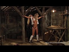 Slaves Homecoming: Whip Helps To Undress Her