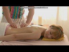 Cute girl has vibro massage