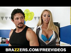 Busty blonde saleswoman Brynn Tyler makes a sal...