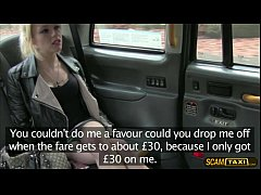 Sexy blonde April rides a taxi and gets convinc...