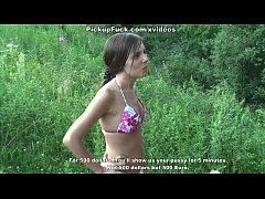 girl undressing in the street