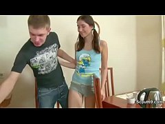 Brother Seduce Skinny StepSister to First Fuck ...