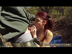 Redhead massive tits and teen gives dad blowjob Oficer of patrol