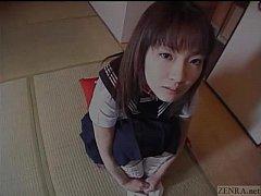 Subtitled spread Japanese schoolgirl defiled wi...