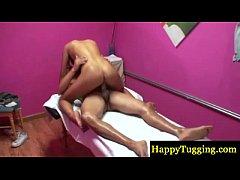 Asian masseur fucks and sucks cock
