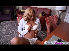 Horny ebony Diamond Monrow craves for a big dick