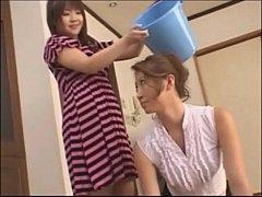 Asian teen slaps around her mother - foot domin...