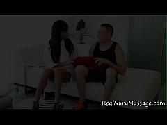 Latina masseuse bounces