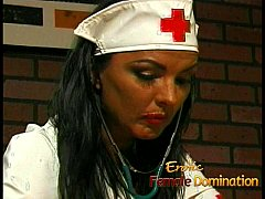 Busty nurse fucks her kinky patient with a gian...