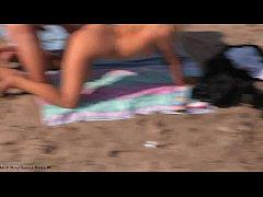 Nudists enjoy doggy style sex