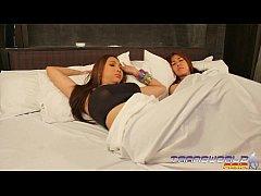 Two Sensual Asian Shemales In Erotic Shelesbian...