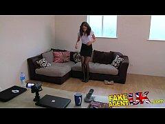 FakeAgentUK Perfect british brunette gets deep creampie on valentine casting