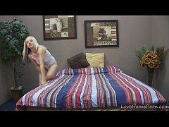 Homemade video of a blonde masturbating