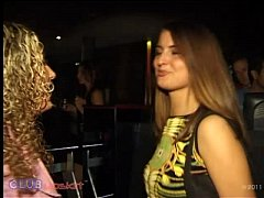 Club Upskirt video featuring 2 Party Girls that...