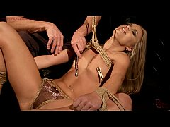Young girl enjoy anal sex in rope bondage