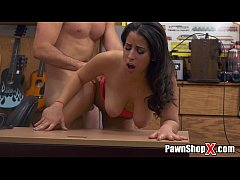 Amateur Latina with Natural Big Tits Visits Paw...