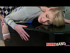 Huge boobs piano teacher horny threesome with t...