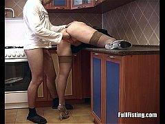 Blonde Housewife In Stockings Receives Deep Pus...