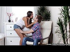 Teeny Lovers - Busty teen taking a creampie