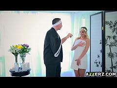 Busty blonde Britney Amber hot fuck massage