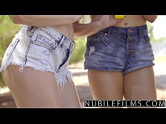 NubileFilms - Playful Coeds Have Intense Lesbia...