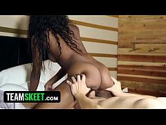 TeenyBlack - Ebony Teen Armani Monai Loves Sucking White Cock!