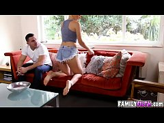 Adorable hot chick Natalia Starr getting her pu...