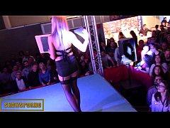 Porno magic trick on stage