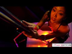 Saya Song suck and fuck a huge cock in the striper Club